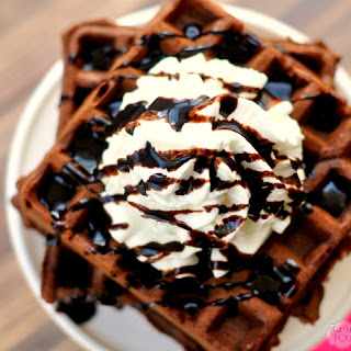 German Chocolate Waffles