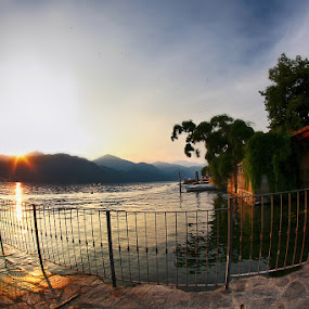 Outside... by Cristina Casati - Landscapes Sunsets & Sunrises ( orta lake, piedmont, summer, holidays, vacations, italy )