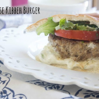 Lebanese Kibbeh Burger with Tzatziki