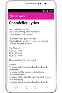 SIA 50 Top Song Lyrics – Android Apps on Google Play