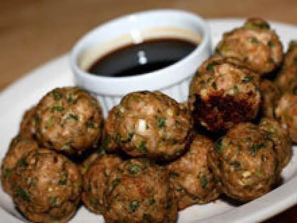 Chinese Inspired Turkey Meatballs W/ Dipping Sauce