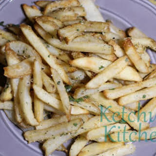 Baked Truffle Fries w/ Fresh Parsley and Parmesan Cheese.