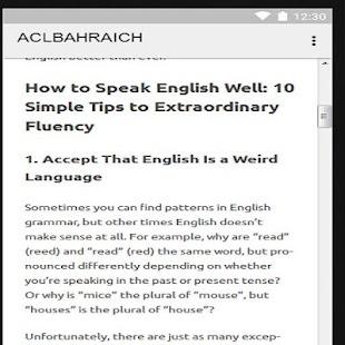 ACL ENGLISH SPEAKING screenshot