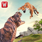 Tiger vs Dinosaur Adventure 3D Icon