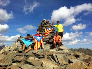 Photo: Familia Orive Pinyot. A l'esquerra el Jordi (R/G) i la Laura (P/C).  Pic de Cataperdís, Andorra (2.805m).