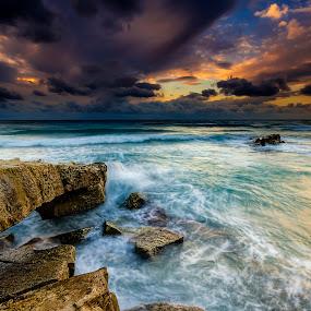 Wild sunset by George Papapostolou - Landscapes Sunsets & Sunrises ( hellas, colors, sunset, kos island, seascape, nikon,  )