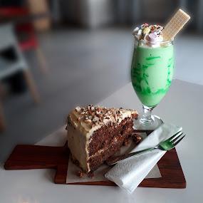 Carrot Cake and Milkshake by Elna Geringer - Food & Drink Candy & Dessert