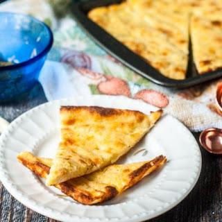 Fathead Rosemary Garlic Flatbread (low carb).