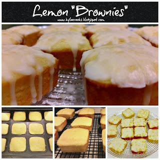 "LEMON ""BROWNIES"""