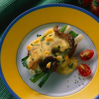 Austernpilze-Toast mit Eiersauce