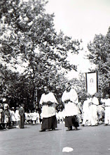 Photo: 1950 May Procession_St Cyprian Parish