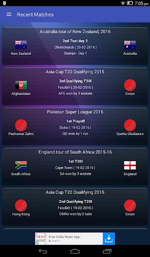 Live Cricket Scores & Updates - Total Cricinfo  16