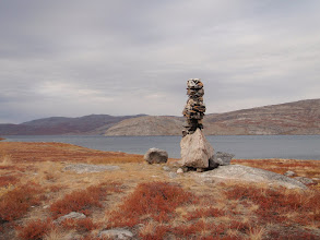 Photo: Greenland - Route marker on Day 2