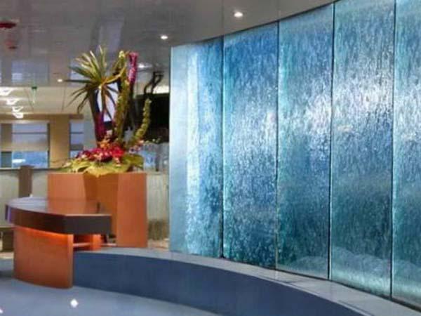 Indoor Glass Waterfall