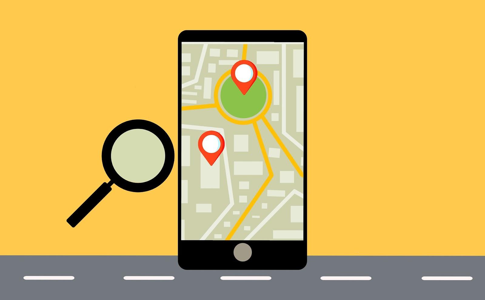 Image d'une plateforme de mise en relation sur un mobile