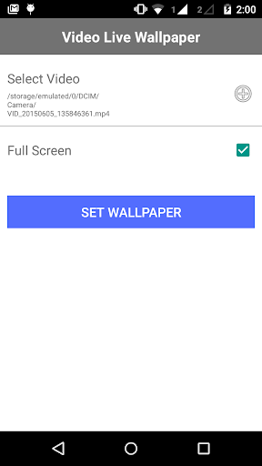 Own Video Live Wallpaper