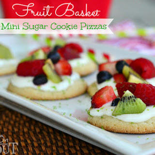 Fruit Basket Mini Sugar Cookie Pizzas