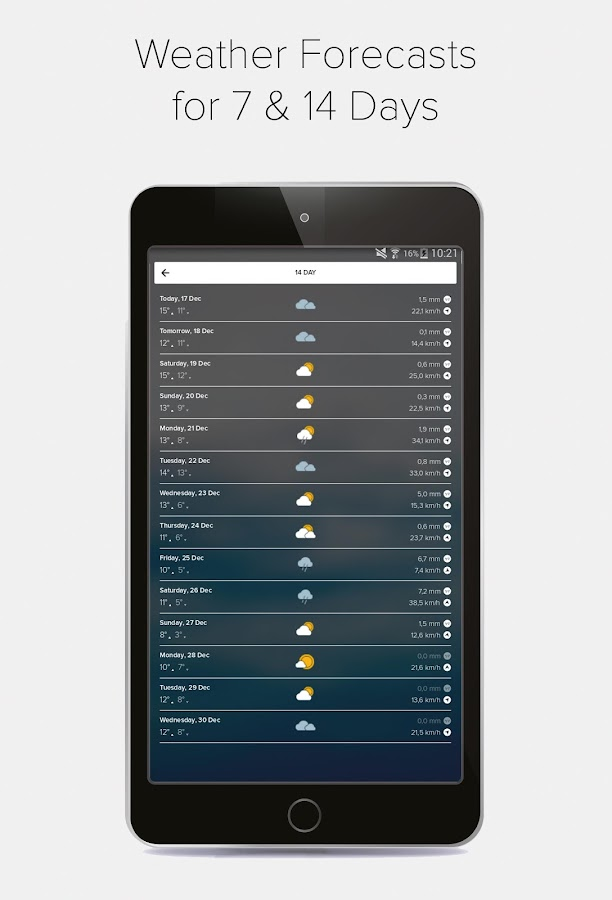 Morecast™ - Weather Forecast with Radar & Widget- screenshot