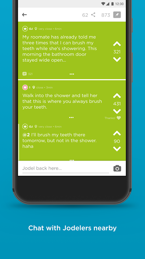 Jodel- screenshot