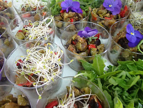 Photo: Timbaline de tartare de légumes niçois