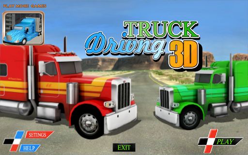 트럭 3D 게임을 구동