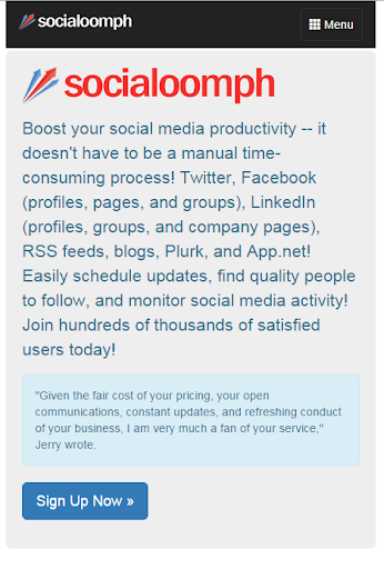 SocialOomph - Top Twitter Tool