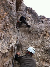 Photo: Climbing Toblinger Knoten (2617 m). My first via ferrata.