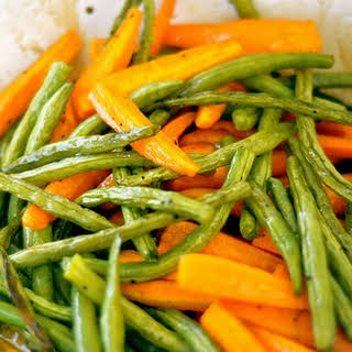 Cold Steamed Carrot and Green Bean Salad w/Balsamic Vinaigrette.