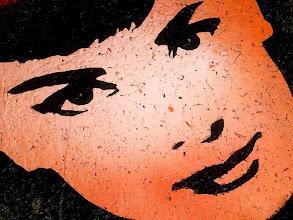 Photo: Sabrina  30x30cm  Soggetto realizzato con stencil fatto a mano, colori acrilici spray, strass di resina su sughero.  Subject made with handmade stencil with spray acrylic colours, resin strass on cork.  DISPONIBILE  Per informazioni e prezzi: manualedelrisveglio@gmail.com