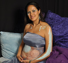 Photo: Pregnanr Belly Art Designs by Paola Gallardo from http://www.BestPartyPlanner.net
