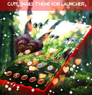 Cute Snails Theme for Launcher - náhled