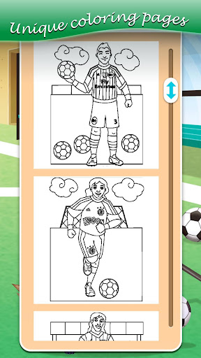 Football coloring book game apkpoly screenshots 4