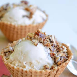 Maple Ice Cream With Pecan Praline.
