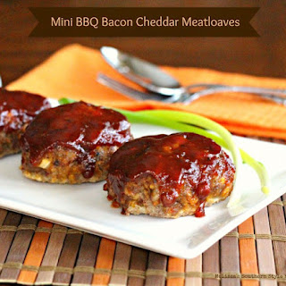 Mini Barbecue Bacon-Cheddar Meatloaves.