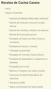 Recetas de Cocina Casera - náhled