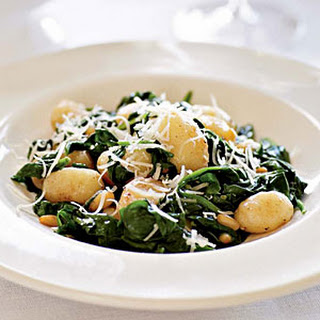 Brown Butter Gnocchi with Spinach and Pine Nuts