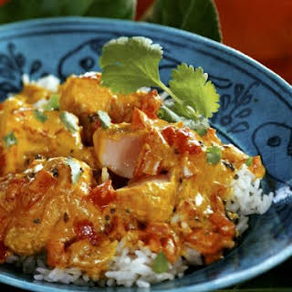 South-Indian Spicy Fish Dish.