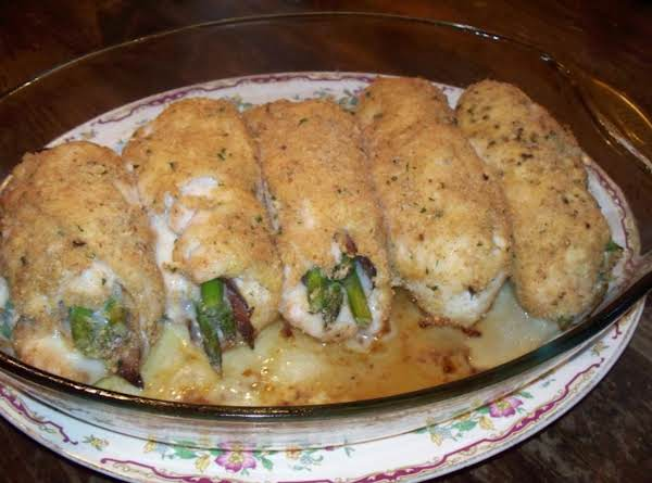 Asparagus - Prosciutto Stuffed Chicken Rolls Recipe