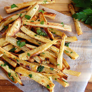 Addictive Parsnip Fries with Truffle Oil.
