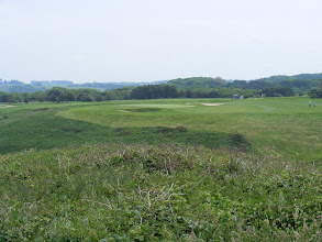 Photo: The seaside golf course would not be considered a links course in the British sense, but certainly present some challenges by its location and elevation changes. It is considered one of the 25 best courses in France.