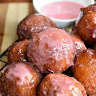 Glazed Strawberry Ricotta Doughnuts (No Yeast) Recipe