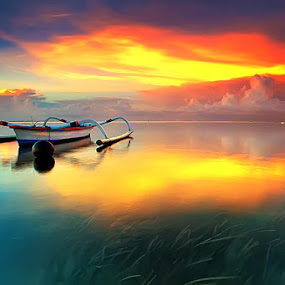 Colorful Morning by Agoes Antara - Transportation Boats