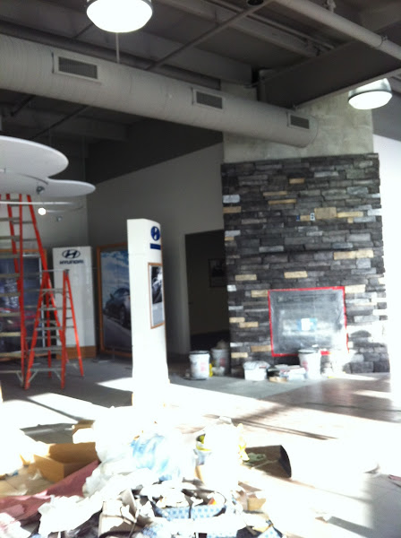 Photo: The Fireplace in the Customer Lounge http://www.keycars.com