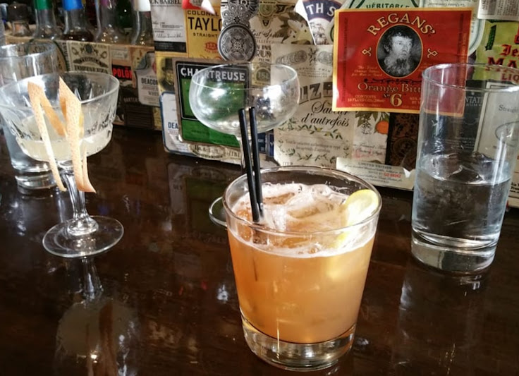 Stockholm Syndrome sits front and center, made with aquavit and citrus.