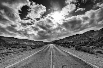 Photo: We can travel this road together Death Valley, CA. 2011.  I was going to take a break from processing until the weekend, but I could not stay away. On our way to Agueberry mine camp, we traveled down this lonely road. +Thomas Hawk instinctively pulled over to the side of the road when he saw the light, everyone (+Karen Hutton, +Lotus Carroll) jumped out of the car and took up their positions.  I think it was +Karen Hutton (or maybe it was +Lotus Carroll) who previously posted a killer shot from this location. Here is what my point of view.  #DV2011 #DV2011_RicardoLagos
