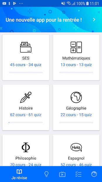 Bac ES 2020 Android App Screenshot
