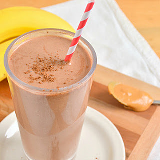 Chocolate Peanut Butter Banana Breakfast Smoothie