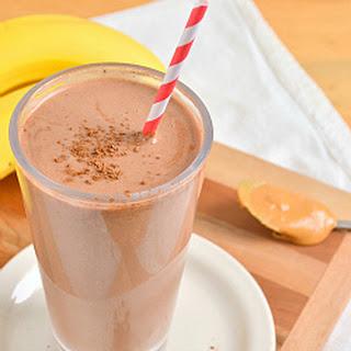 Chocolate Peanut Butter Banana Breakfast Smoothie.