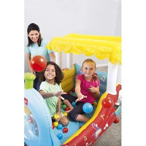 Centru de joaca - Trenulet gonflabil cu 25 mingi, 132 x 94 x 89 cm