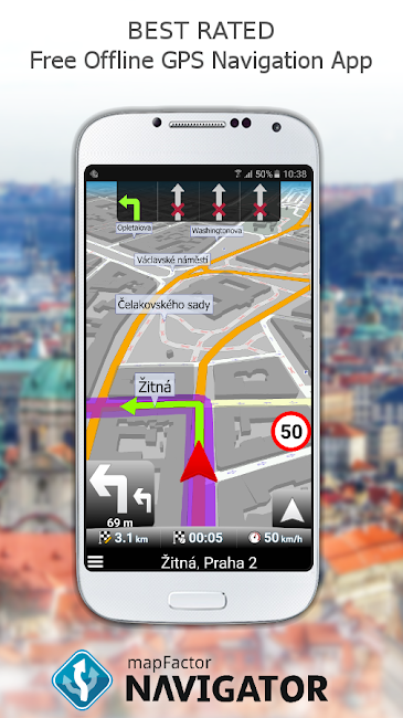 #1. MapFactor GPS Navigation Maps (Android)